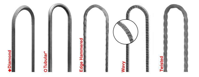 bow top railing and fencing components