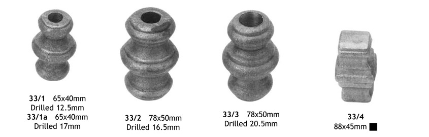 decorative forged steel bushes