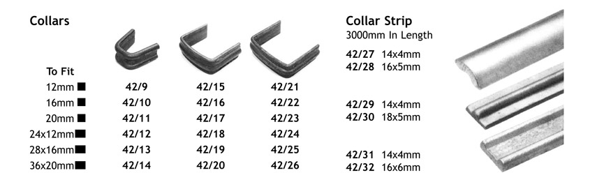 easy fit collars for decorative ironwork