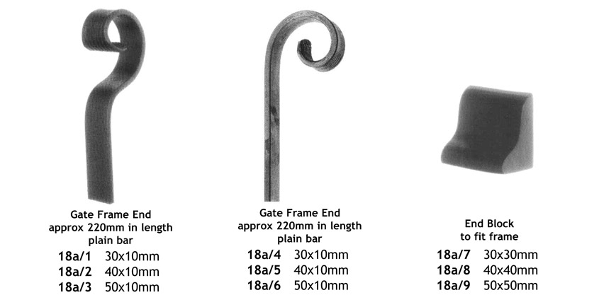 decorative gate frame components