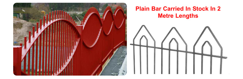 decorative punched bars for fencing