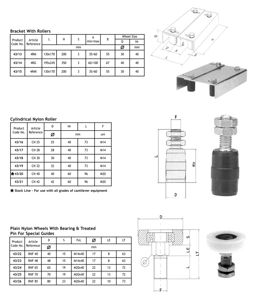 sliding cantilever gate accessories