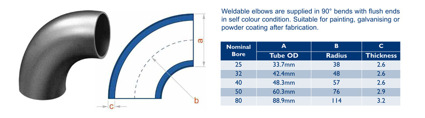 weldable elbows