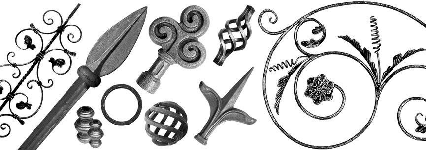 decorative wrought ironwork components