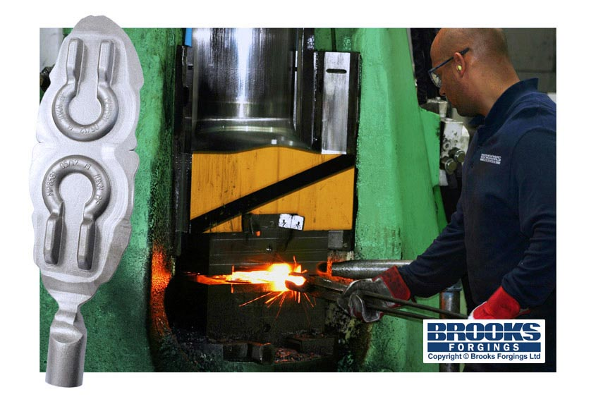 drop forging hammer at brooks forgings ltd
