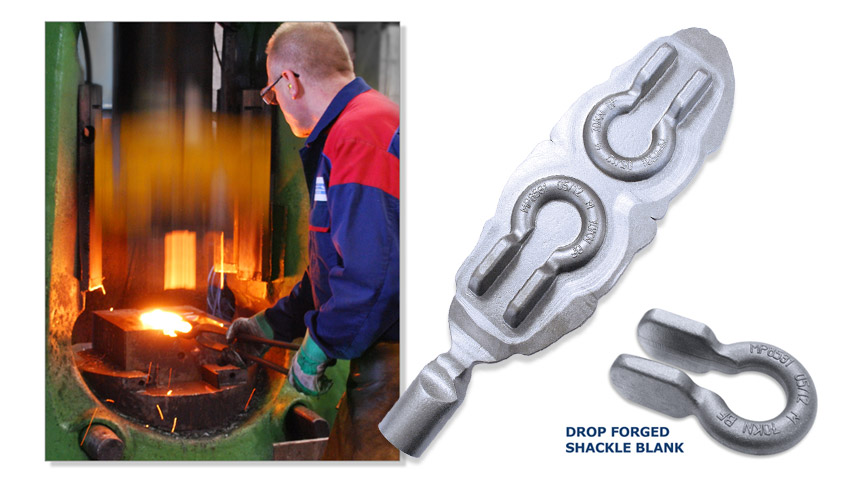 drop forging shackle blanks
