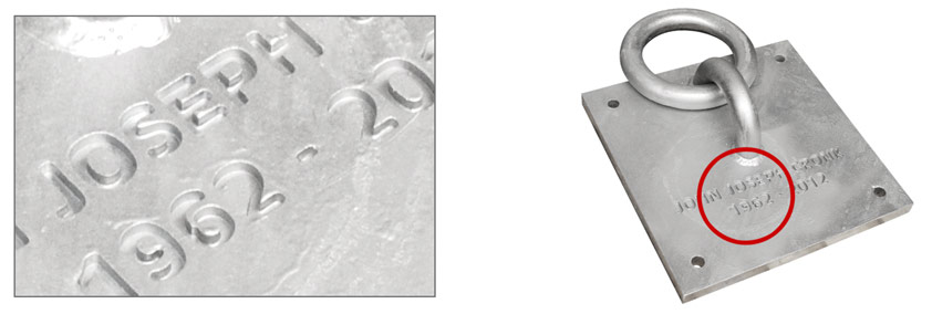 cnc engraving and marking of metal and forged components
