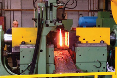 automated horizontal counter blow forging