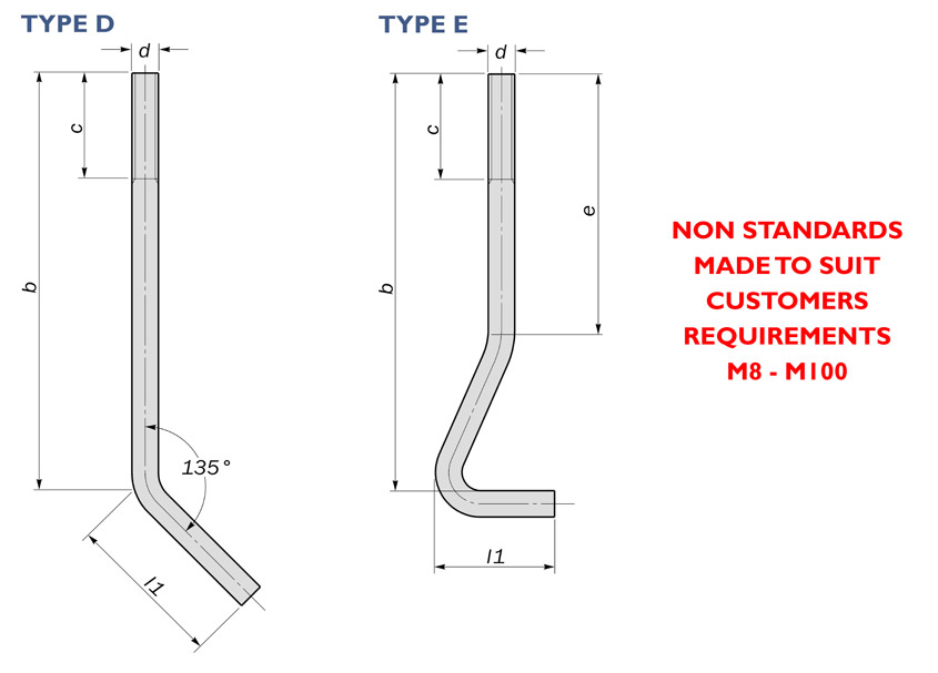 anchor bolts miscellaneous diagram drawing