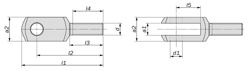 basic clevis external thread diagram drawing