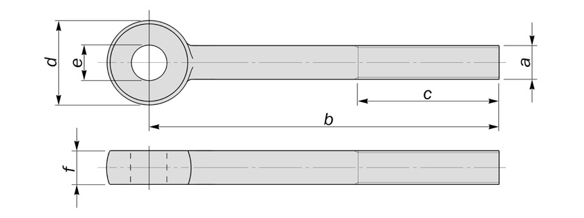 din444 eyebolts type a diagram drawing