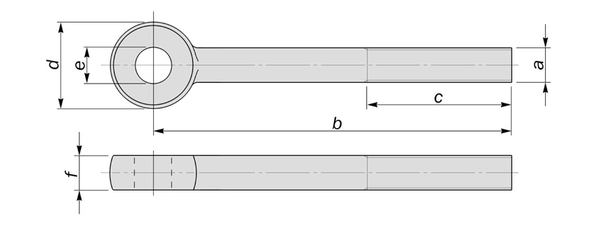 din444 eyebolts type b and c diagram drawing