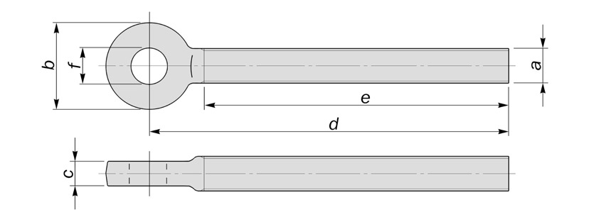 eyebolts with reduced eye thickness diagram drawing