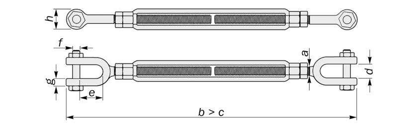 jaw to jaw turnbuckle us federal diagram drawing