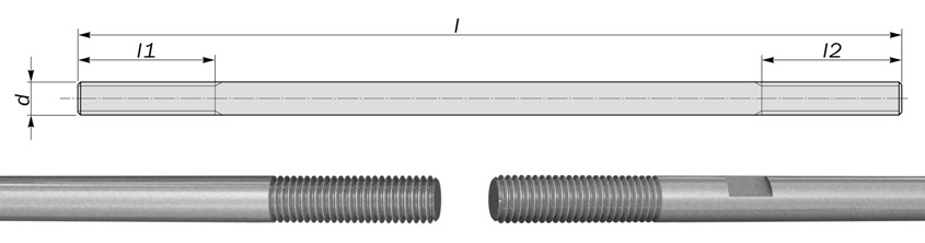 tie bars tension rods diagram drawing