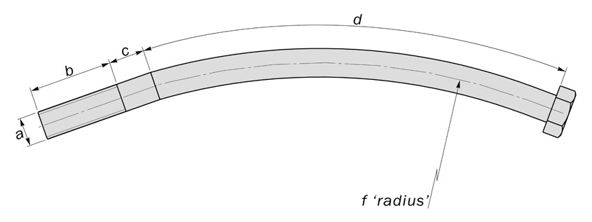 tunnel bolts curved bolts diagram
