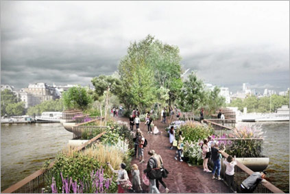 London Garden Bridge Project Press Photo 1