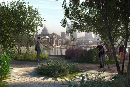 London Garden Bridge Project Press Photo 2