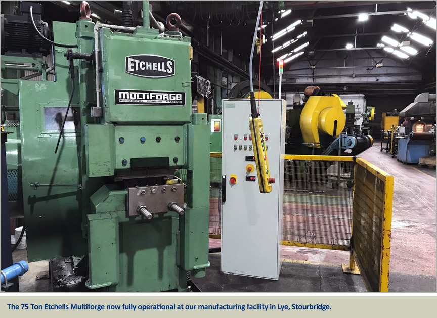 etchells multiforge forging capability expanded at brooks forgings ltd