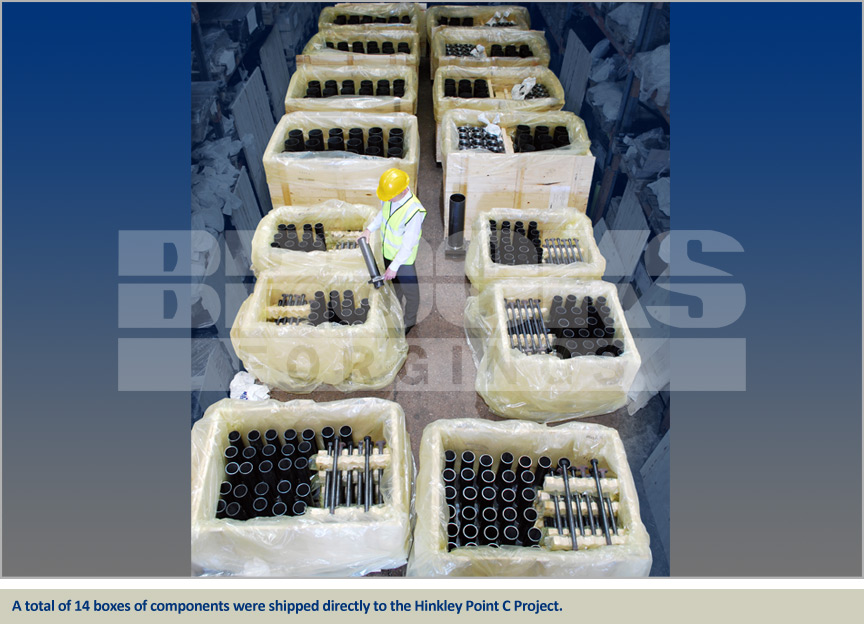 hinkley point components foundation bolts warehouse