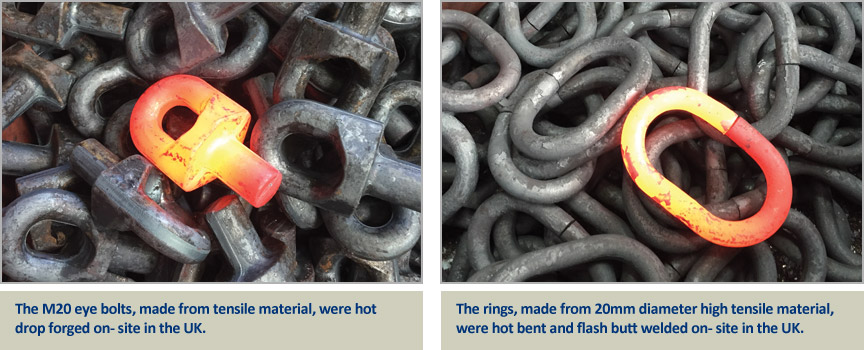 hot forged components for lifting swivels in high tensile material