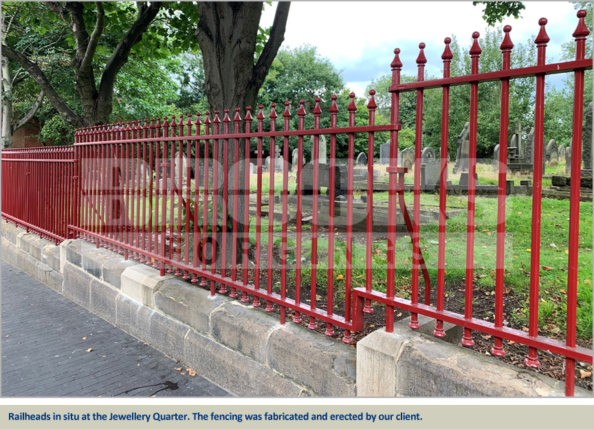 jewellery quarter cemeteries project new railings