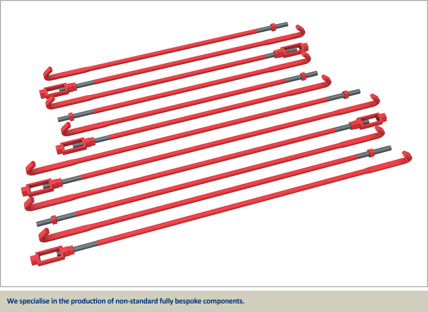 tension system components tie bars turnbuckles
