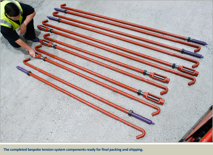non standard bespoke tension system components