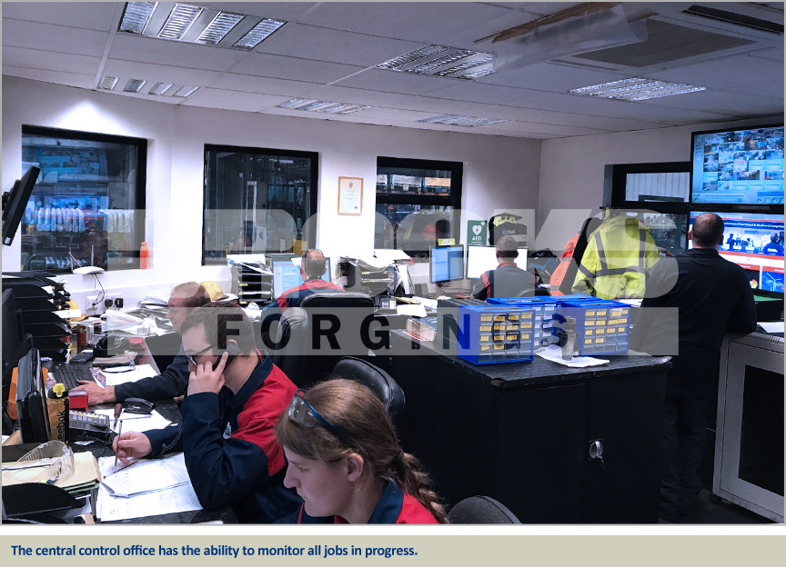 central control office at brooks forgings lye site