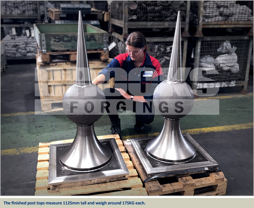 large fabricated post tops