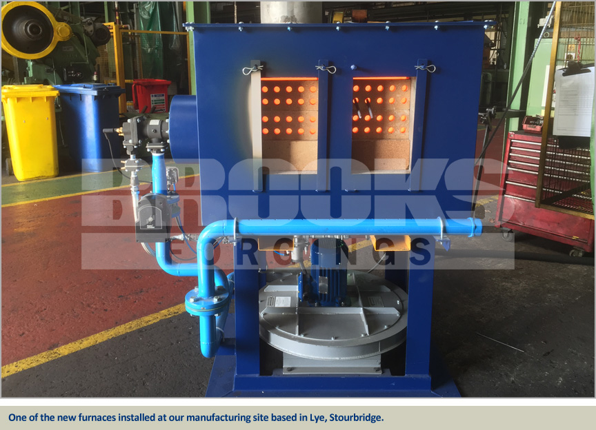 fully temperature-controlled and programmable bar end heating furnaces