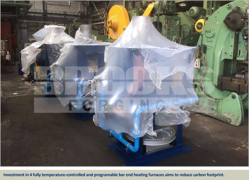 4 new fully programable forging furnaces at Brooks Forgings