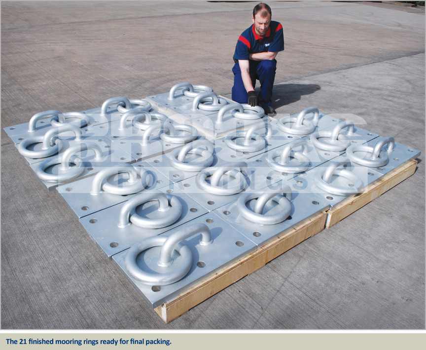 heavy duty mooring rings galvanised monaco