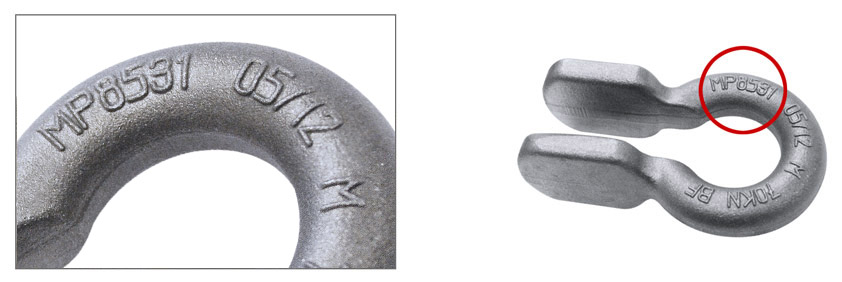raised identification markings in forged components