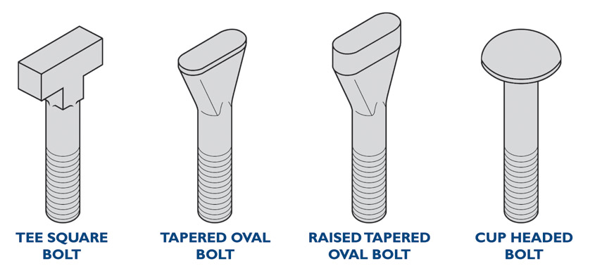 special forged head styles for fasteners and bolts tee square tapered oval raised oval cup head