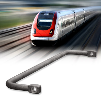 torsion bars for locomotive and train carriages