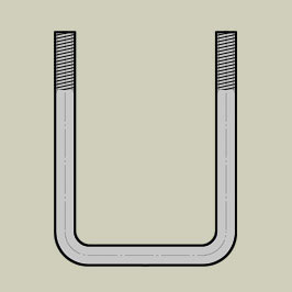 U bolts - Straight / Square Back