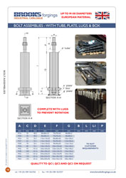 Bolt Assembly - Tube, Plate, Lugs & Box