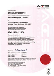 ACS ISO 14001 Approval - Environmental