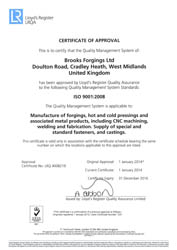 Lloyds LRQA ISO 9001 : 2015 Approval - Quality