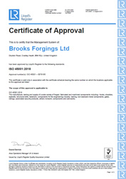 Lloyds LRQA ISO 45001 Approval - Health & Safety