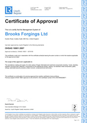 Lloyds LRQA OHSAS 18001 Approval - Health & Safety