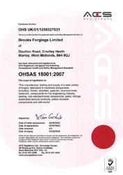 ACS OHSAS 18001 Approval - Health & Safety