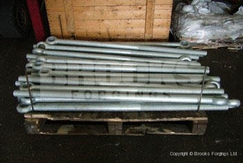 51 - M40x1600mm special swing bolts, galvanised
