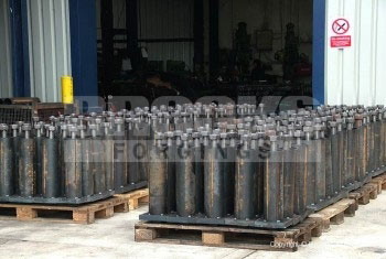 5 - Holding Down Bolts - Foundation Assemblies for a special crane track installation. M48 x 700mm Grade 8.8.