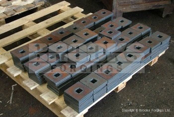 11 - Holding Down Bolts - Washer Plates. 150x150x30mm
