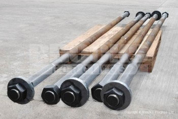 39 - Holding Down Bolts - Large diameter and long length tie bars