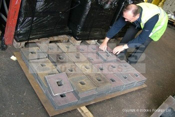45 - Holding Down Bolts - Large washer plates with square hole