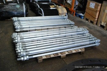 53 - Holding Down Bolts - Long length tie rods in galvanised finish