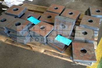 79 - Holding Down Bolts - Square washer plates with round hole